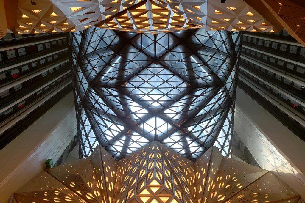 Ethereal interior lighting design of Morpheus