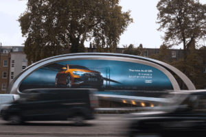Uniquely designed billboard in Kensington