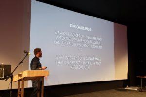ergus speaking at Academy of Urbanism Annual Congress in Eindhoven, June 2019
