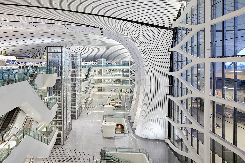 Interior view of Beijing Daxing International Airport